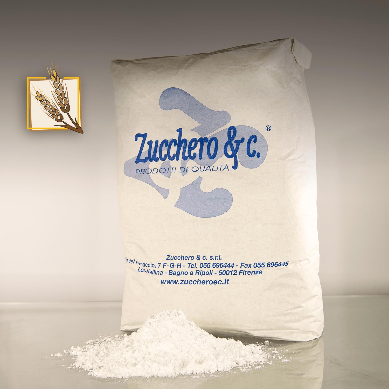 Zucchero a velo con amido di frumento al 3 in sacco da 20kg ns cod ISA320